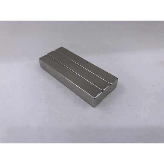 Neodímium hasáb mágnes,   50mm x 7,54mm x 7mm, N35