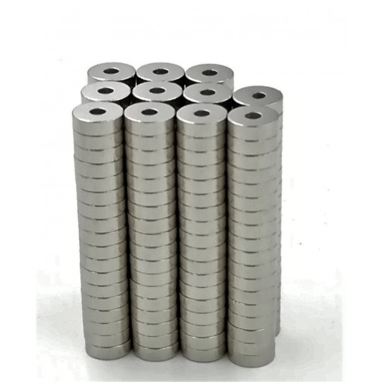 Neodímium gyűrű mágnes,  10mm x 3mm x 5mm, N35