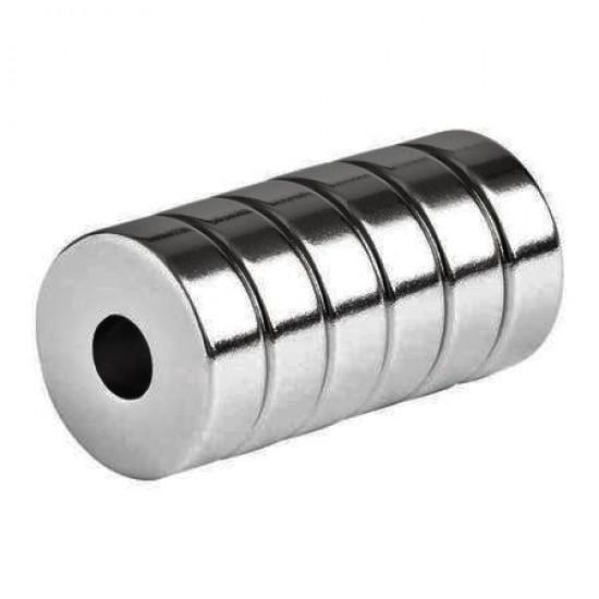 Neodímium gyűrű mágnes,  10mm x 4mm x 5mm, N48