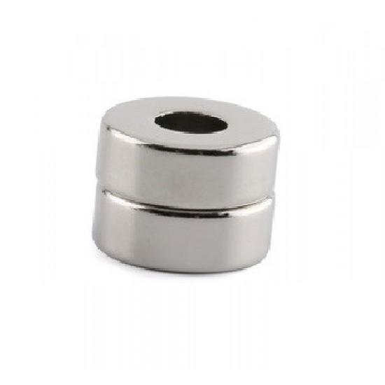 Neodímium gyűrű mágnes,  15mm x 6mm x 6mm, N35