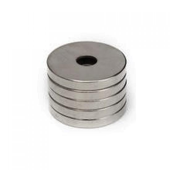 Neodímium gyűrű mágnes,  19,5mm x 5mm x 3mm, N48