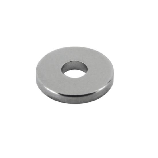 Neodímium gyűrű mágnes,  4mm x 1,5mm x 1mm, N45