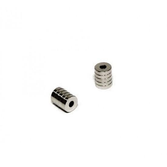 Neodímium gyűrű mágnes,  4mm x 2mm x 8mm, N35