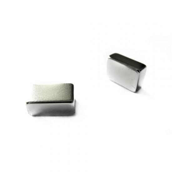 Neodímium hasáb mágnes,  10mm x 6mm x 15mm, N35