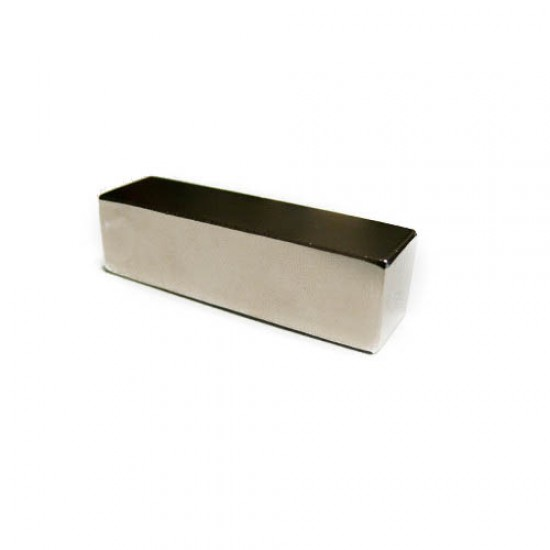 Neodímium hasáb mágnes,  14mm x 14mm x 50mm, N35