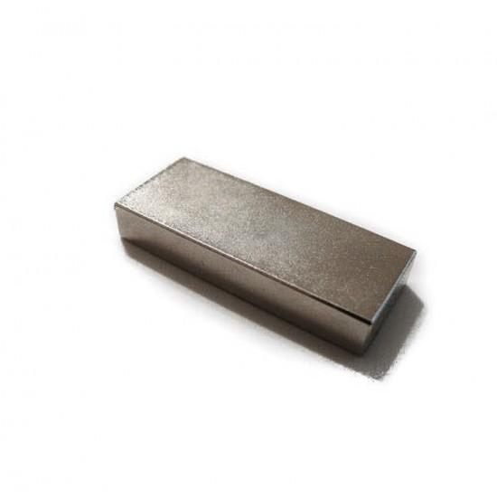 Neodímium hasáb mágnes,  20mm x 8mm x 50mm, N35