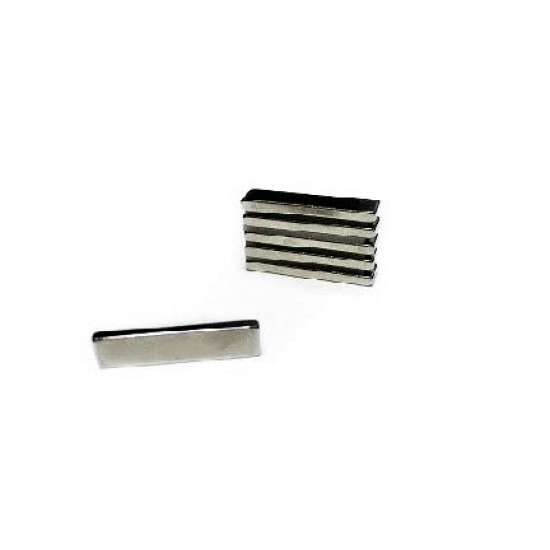 Neodímium hasáb mágnes,  32mm x 7,9mm x 3mm, N35