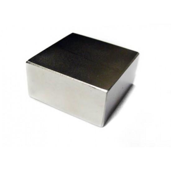 Neodímium hasáb mágnes,  50mm x 50mm x 25mm, N55