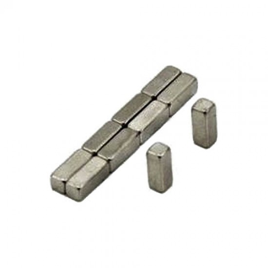 Neodímium hasáb mágnes,  8mm x 8mm x 20mm, N35
