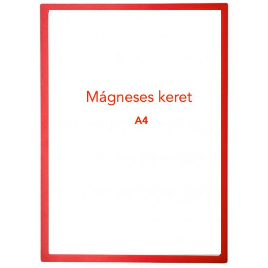 Mágneses prezentációs keret piros, A4