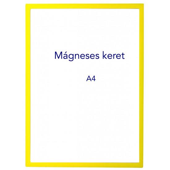 Mágneses prezentációs keret sárga, A4