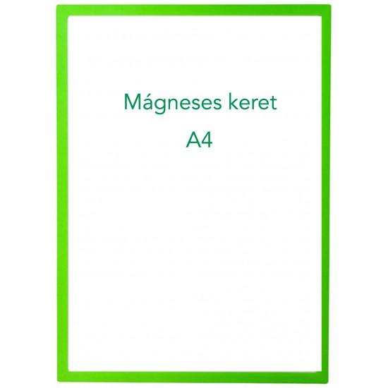 Mágneses prezentációs keret zöld, A4