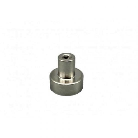 Neodímium POT mágnes,  12 mm, belső menetes