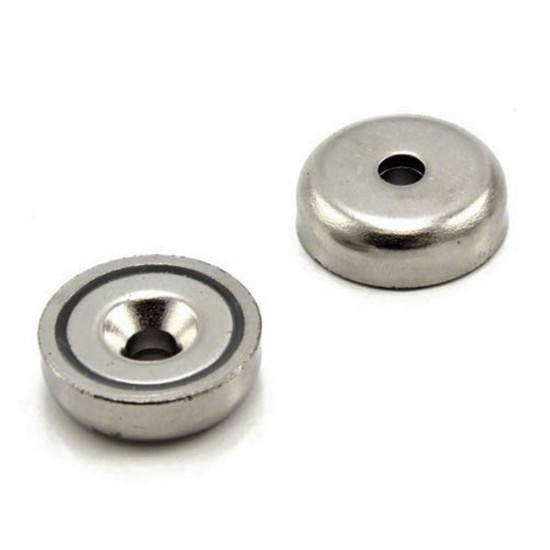 Neodímium POT mágnes,  12 mm,  furatos