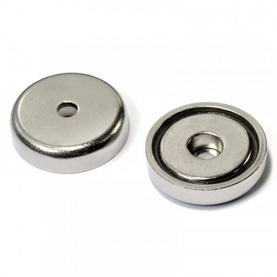 Neodímium POT mágnes,  32 mm, furatos
