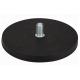 Neodímium POT mágnes,  gumibevonú 66 mm, száras, külső menetes