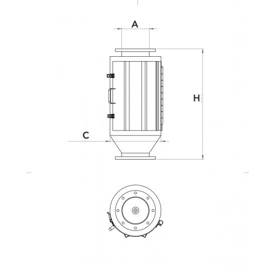 Csőmágnes ( Vaskiválasztó kúpmágnes ) 500