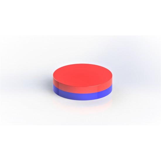 Neodímium korong mágnes,   10mm x 1,5mm, N35, öntapadós