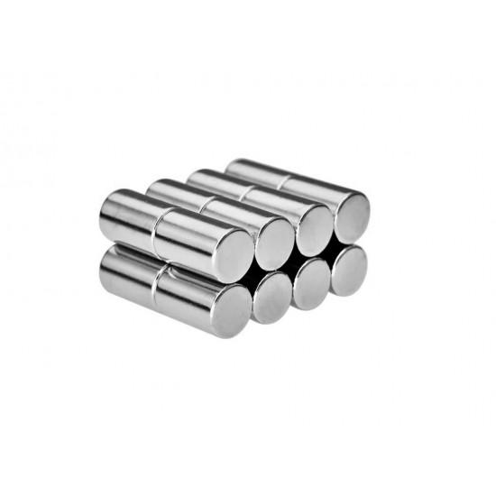 Neodímium rúd mágnes, 5mm x 10mm, N35