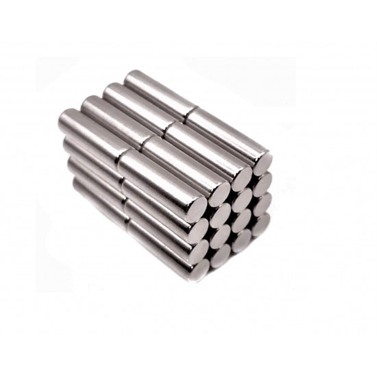 Neodímium rúd mágnes, 6mm x 25mm, N35